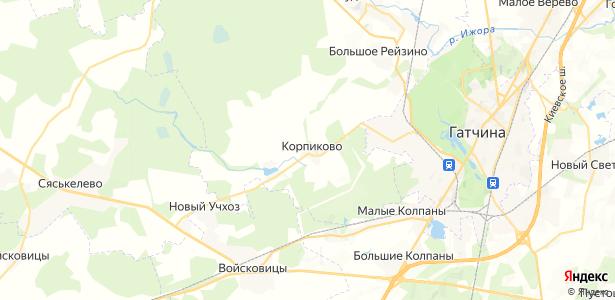 Корпиково на карте
