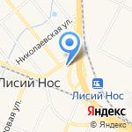 Лисий Нос на карте Санкт-Петербурга