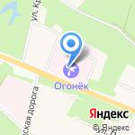 Огонёк на карте Санкт-Петербурга