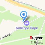 Аллегро-Парк на карте Санкт-Петербурга