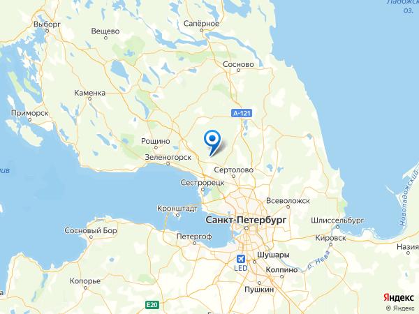 СНТ Трудовой Отдых на карте