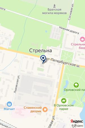 ОО ЛЮБИМЫЙ ПЕТЕРГОФ на карте Петергофа