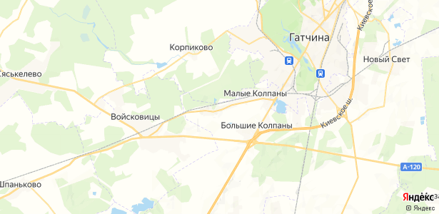 Парицы на карте