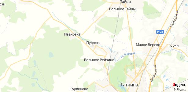 Пудость на карте