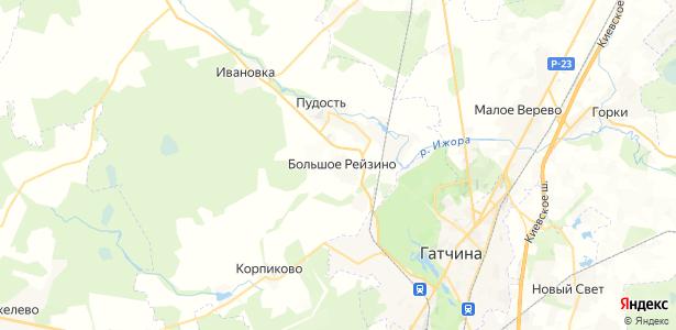 Большое Рейзино на карте