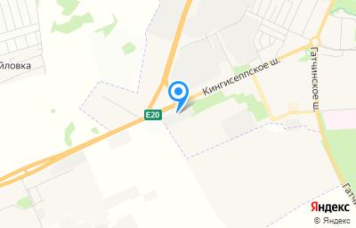 Местоположение на карте пункта техосмотра по адресу г Санкт-Петербург, г Красное Село, ш Кингисеппское, д 50 литер а
