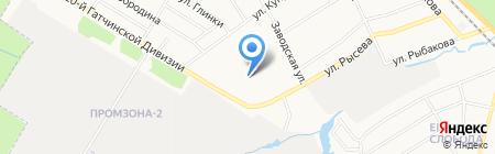 Л-Пласт на карте Гатчины
