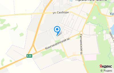 Местоположение на карте пункта техосмотра по адресу г Санкт-Петербург, г Красное Село, ш Кингисеппское, д 47 литер б