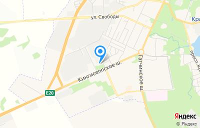 Местоположение на карте пункта техосмотра по адресу г Санкт-Петербург, г Красное Село, ш Кингисеппское, д 47