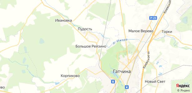 Малое Рейзино на карте