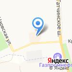 Силует на карте Санкт-Петербурга