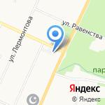 Магазин зоотоваров на карте Санкт-Петербурга