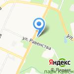 Антея на карте Санкт-Петербурга