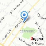 Храм святого Преподобного мученика Андрея Критского на карте Санкт-Петербурга