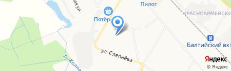 Детский сад №8 на карте Гатчины