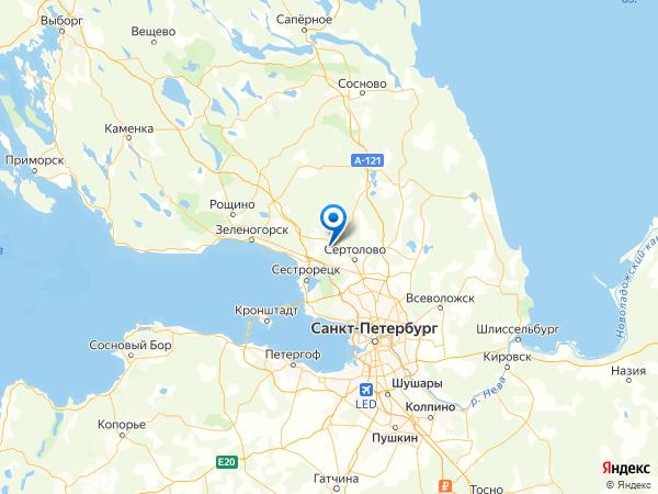 коттеджный посёлок Лесная Поляна на карте