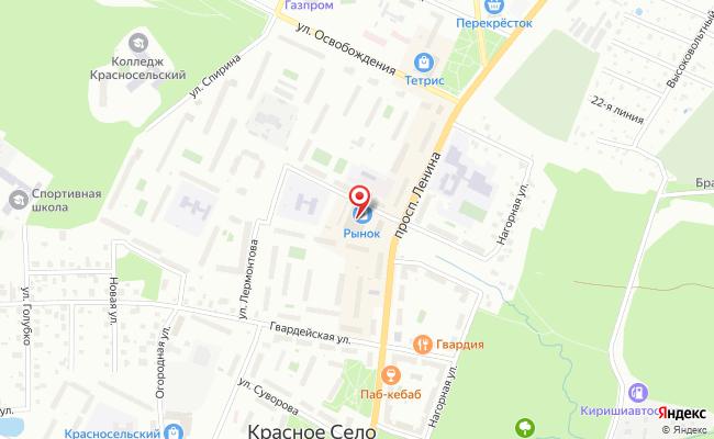 Карта расположения пункта доставки Пункт выдачи в городе Красное Село