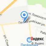 Эрлота на карте Санкт-Петербурга
