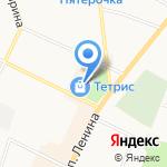 Магазин одежды и игрушек на карте Санкт-Петербурга