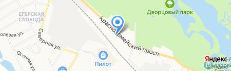 Почтовое отделение №307 на карте Гатчины