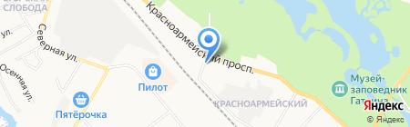 Магазин хозяйственных товаров на Красноармейском проспекте на карте Гатчины