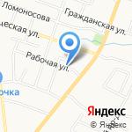Ландшафты и дороги на карте Санкт-Петербурга