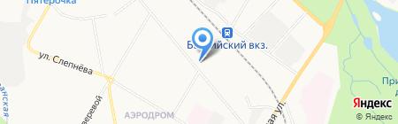 Автостоянка на ул. Генерала Кныша на карте Гатчины