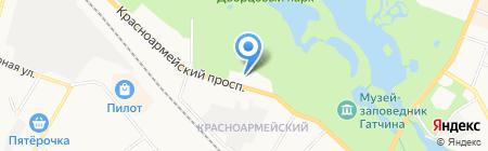 Отдел надзорной деятельности Гатчинского района на карте Гатчины
