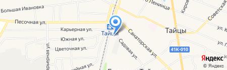 Магазин на Садовой на карте Больших Тайцев