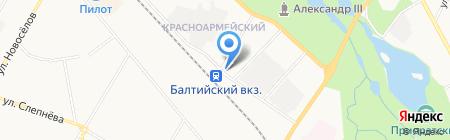 Магазин мясной продукции на ул. Григорина на карте Гатчины