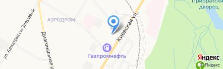 Шиномонтажная мастерская на Киевской на карте Гатчины