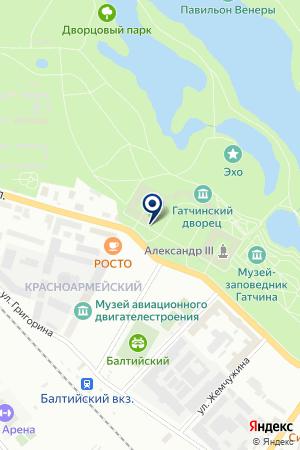 БАНКОМАТ на карте Гатчины