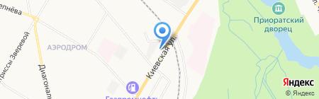 Шиномонтажная мастерская на Киевской (Гатчинский район) на карте Гатчины