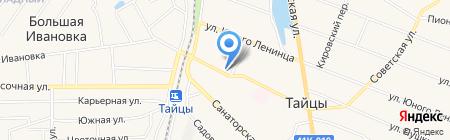 Магазин канцелярских товаров на Советской на карте Больших Тайцев