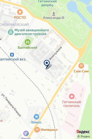 ПРОИЗВОДСТВЕННАЯ ФИРМА РУСТ-95 на карте Гатчины