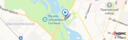 Автостоянка на ул. Чкалова (Гатчинский район) на карте Гатчины