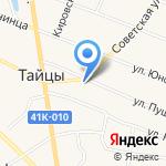 Сеть мебельных салонов на карте Санкт-Петербурга