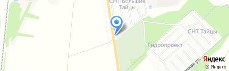 Шиномонтажная мастерская на Гатчинском шоссе на карте Санкт-Петербурга