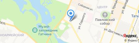 Магазин печатной продукции на Красной на карте Гатчины