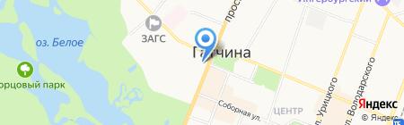 Интернет-кафе на проспекте 25 Октября на карте Гатчины