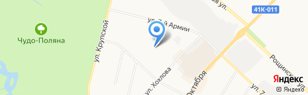 Автостоянка на ул. Академика Константинова на карте Гатчины