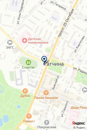 СТАДИОН СПАРТАК на карте Гатчины