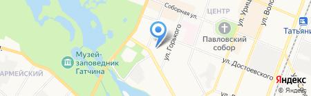 ВТВВ на карте Гатчины