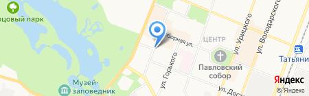 Рив Гош на карте Гатчины