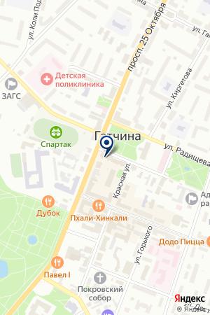 ШКОЛА ТАНЦА ОЛИМПИЯ на карте Гатчины