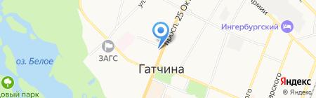 Комитет образования Администрации Гатчинского муниципального района на карте Гатчины