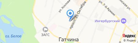 Агентство недвижимости Оксаны Дегтяревой на карте Гатчины