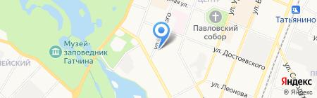 Гамма на карте Гатчины