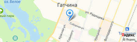 Гатчинское районное потребительское общество на карте Гатчины