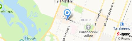 Пуговка на карте Гатчины